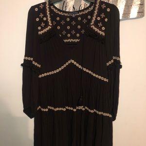 Black American eagle dress